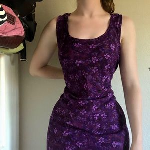 Vintage Purple Floral R&K Originals Dress